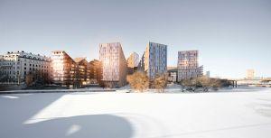 MER BOSTÄDER... (idébild för nybyggnation istället för Tekniska nämndhuset, från Stockholms stad).