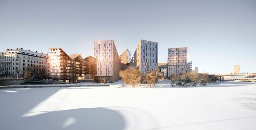 Idébild för nybyggnation istället för Tekniska nämndhuset. Källa: Stockholms stad.