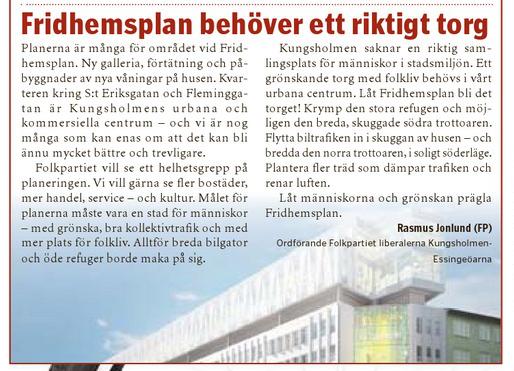 Vårt Kungsholmen 15 juni 2013.