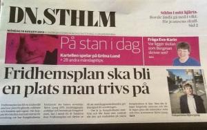 DN STHLM:s förstasida i dag, 19 augusti.