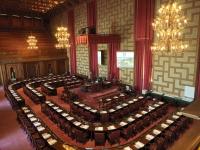 MÅL FÖR KANDIDATER. Stockholms kommunfullmäktige sammanträder i Rådssalen i Stadshuset.