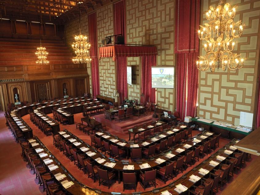 Rådssalen - Stockholms formella politiska hjärta. Foto från stockholm.se