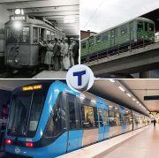 Snart skrivs nästa kapitel i tunnelbanans historia. Bild från Wikimedia, kollage av Holger Ellgar av bilder från Spårvägsmuseet.