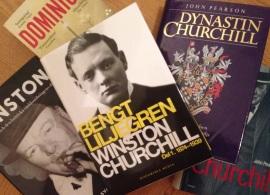 Ett urval ur mitt eget Winston-bibliotek.