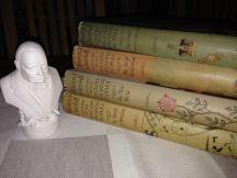 En äldre Winston, med sitt storverk efter kriget - historien om de engelsktalande folken.
