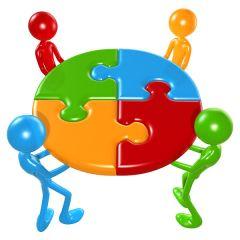 Ibland behövs en pusselbit utifrån, som bemanningsföretag kan bistå med. Bild från Wikimedia, Teamwork Puzzle Concept, www.lumaxart.com