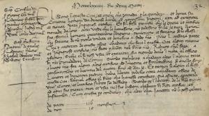 Den första moderna patentstadgan utfärdades av rådet i Venedig 1474. www.archiviodistatovenezia.it via Wikimedia.