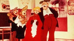 Karl-Bertil sjunger julsånger på ölcaféet. Bild från svt.se - där ni kan se julsagan på julaftons kväll, precis som varje år.