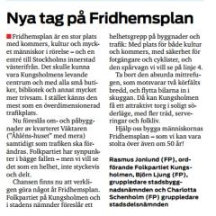 Mitt i Kungsholmen 13 januari 2014.