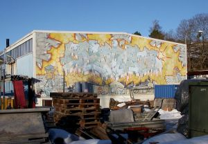 """LEGAL GRAFFITI. """"Fascinate"""" i Bromsten, målad 1989 av """"Circle"""" och """"Tarik"""", med fastighetsägarens tillåtelse. Bild Holger Ellgaard/Wikimedia."""