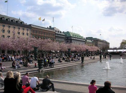 BANKPALATS. Vid Kungsträdgården ligger både SEB:s och Handelsbankens huvudkontor.