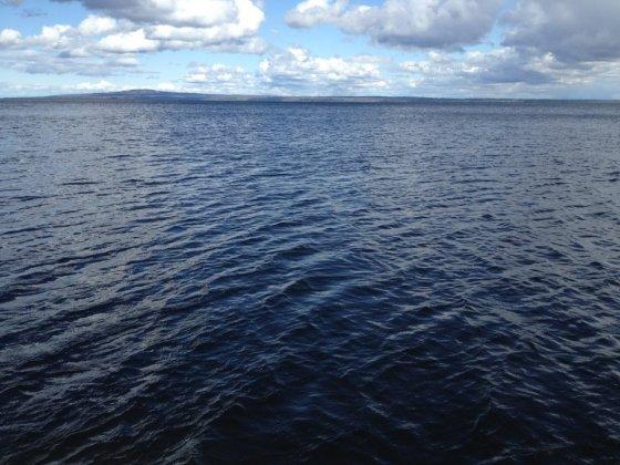 VILOPLATS. Vi tog avsked av pappa i Kinnevikens stilla vatten.