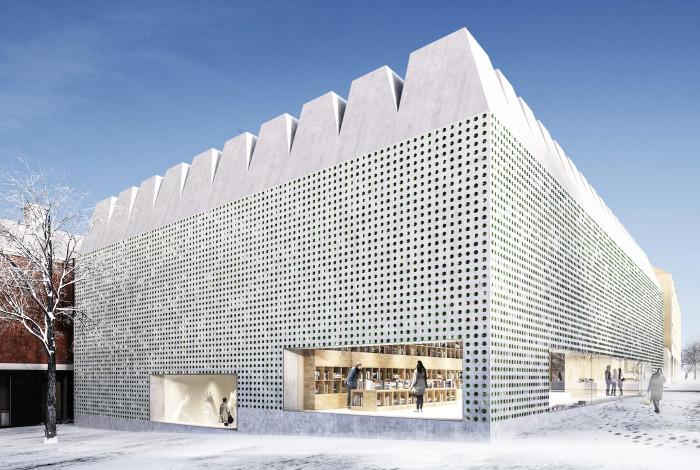 VINNARE. Med sin diskreta monumentalitet, en ny pärla för Djurgården och Stockholm vid Liljevalchs, av Gert Wingårdh och Ingegerd Råman. Bild från Folkpartiet i Stockholms stadshus på Newsdesk.