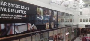 NYÖPPNING I AUGUSTI. Kista nya bibliotek kommer att ha en bred verksamhet och öppet mellan 10 och 21, varje dag året om. Bild från madeleinesjostedt.wordpress.com