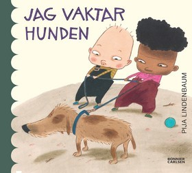 """TJUVKIK. Från 2014 års kommande utgivning, Pija Lindenbaums """"Jag vaktar hunden"""". Bild från bonniercarlsen.se"""