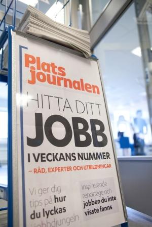 FLER FÅR JOBB. Och få av de arbetslösa i Sverige är arbetslösa i ett år eller längre. Foto: Arbetsförmedlingen, Camilla Veide.