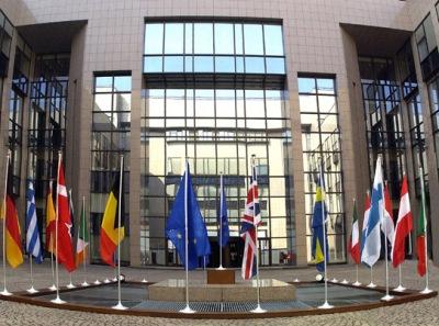 DELAD MAKT. Ministerrådets byggnad Justus Lipsius i Bryssel.