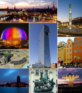 MÅNGSIDIGT MED MÅNGFALD. Några av Stockholms alla sidor, montage Wikimedia.
