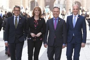 GER BESKED. Folkpartiet och Alliansen levererar både resultat och besked inför framtiden. Bild alliansen.se