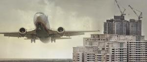 LUFTSLOTT. 50 000 bostäder på Bromma flygplats är en orealistisk och farlig önskedröm. (Foto från Handelskammarens rapport.)