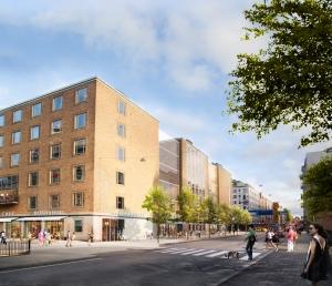 RENOVERINGSDAGS. Skiss på förslaget till Medborgarhuset. Vy från Folkungagatan, Nyréns arkitekter via bygg.stockholm.se