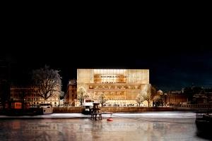 GLÄNSANDE. Det föreslagna huset för Nobelcentret är fel hus för Blasieholmen (David Chipperfield Architects).