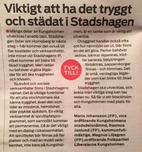 MITT I Kungsholmen 13 oktober 2015.