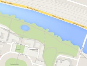 Vad heter parken egentligen..? Namnlös plats på kartan från Google Maps.