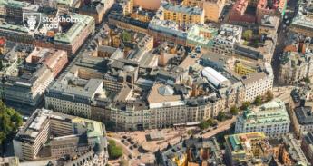 STUREGALLERIAN. Stora delar av kvarteret Sperlingens backe hotas av rivning. Bild från Stockholm stad, kulturmiljöutskottets handlingar.