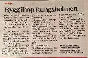 Mitt i Kungsholmen 2 februari 2016.